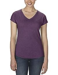 Anvil 6750VL - T-shirt - Uni - Col V - Manches courtes - Femme