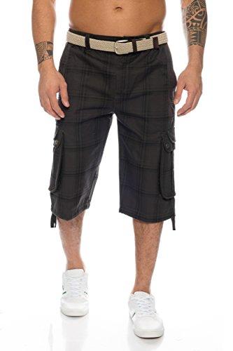 Herren Shorts Dehnbund Bermuda Kurze Hose Stretch Verschiedene Farben ID230 (6XL, Grau)