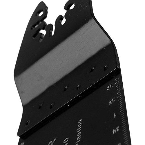cnbtr schwarz 65x 40mm Carbon Stahl Sägeblätter Pendelndes Multitool Präzision Quick Release Sägeblätter Set 50Stück
