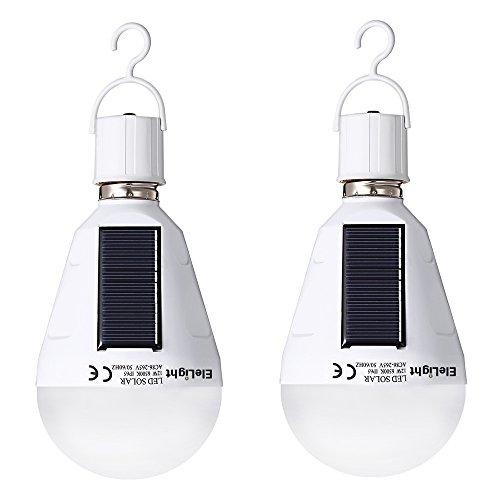 mpe E27 12W Tragbare Paar Solar Panel Led-lampe Notlicht mit Einhaken für den Innenbereich und im Freien wie Wandern, Camping, Angeln, Strandzelt und so weiter (Solar-panel Led-leuchten Im Freien)