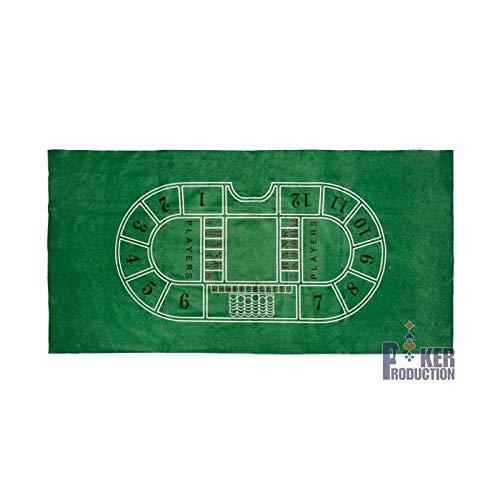 AUTRES Tapis de Baccara en feutrine verte - 180 x 90 cm