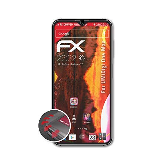 atFolix Schutzfolie passend für UMiDigi One Max Folie, entspiegelnde & Flexible FX Bildschirmschutzfolie (3X)