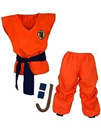 papapanda Niños Disfraz Dragonball Son Goku Ropa de Entrenamiento