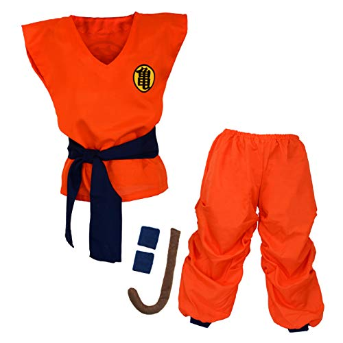 Preisvergleich Produktbild papapanda Kinder Dragon Ball Son Goku Kostüm Trainingsanzug,  Orange,  Blau,  L