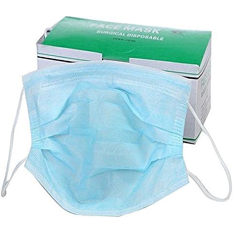 3Capa tela no tejida de filtro de polvo quirúrgico Ear Loop desechable boca máscara de,
