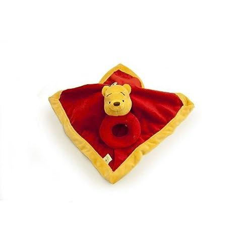 Disney Winnie the Pooh Security Blanket & Rattle Set by Disney