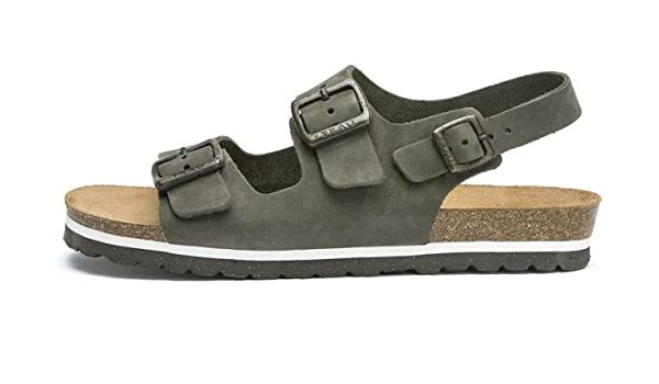 FRAU , Herren Sandalen, Grau - Army - Größe  44  Amazon.de  Schuhe    Handtaschen 43327f583c