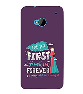 FUSON First Time Forever 3D Hard Polycarbonate Designer Back Case Cover for HTC M7 :: HTC One M7