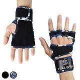 FULL GRIP Fitness-Handschuhe mit stützender Handgelenkbandage Trainingshandschuhe für Crossfit und Kraftsport mit Einer Handinnenfläche aus Leder (Carmo, M)