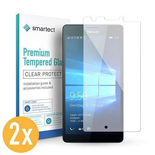 smartect Panzerglas für Microsoft Lumia 950 XL [2 Stück] - Bildschirmschutz mit 9H Härte - Blasenfreie Schutzfolie - Anti Fingerprint Panzerglasfolie