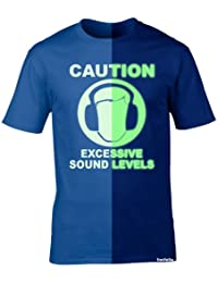 123t Boy's Girl's - GLOW IN THE DARK SOUND-LEVEL - Loose Fit T-shirt