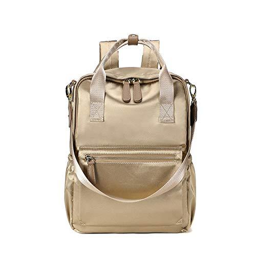 YZJLQML Damentasche DamenbekleidungEinfacher Rucksack aus Segeltuch mit großem Fassungsvermögen Schülerrucksack Rucksack mit großem Fassungsvermögen - Gold