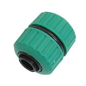 sourcingmap® Verger de jardin en plastique 22 mm - 26 mm OD tuyau d'arrosage Vert/Noir