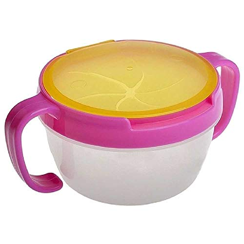 LIUGAOHUA LIUGAOHUA cup Baby Toy Double Handle Cookie Snack Bowl Gift Child Accessories Cup 9 * 7 * 6 cm/Pink -