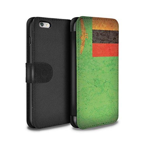 Stuff4 Coque/Etui/Housse Cuir PU Case/Cover pour Apple iPhone 5C / Tunisie/Tunisien Design / Drapeau Africain Collection Zambie/Zambien