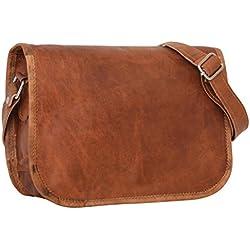 "Handtasche Leder Gusti nature ""Taylor 9,7"" Umhängetasche Ledertasche Damen Vintage Look Naturleder Braun"