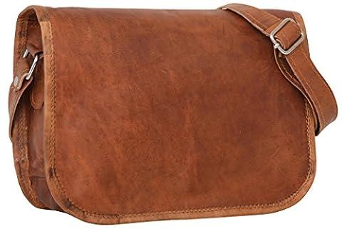 """Gusti Cuir nature """"Taylor 9,7"""""""" cartable en cuir sac notebook sac bandoulière sac porté épaule sacoche business homme femme cuir de chèvre marron K45b"""