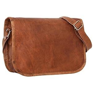 41LLOn d wL. SS300  - Gusti Leder Taylor - Bolso bandolera de piel (estilo vintage), color marrón