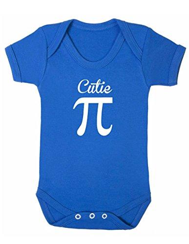 Cutie Pie Baby Boy Mädchen Unisex Short Sleeve Bodysuit (blau, 6–12m)