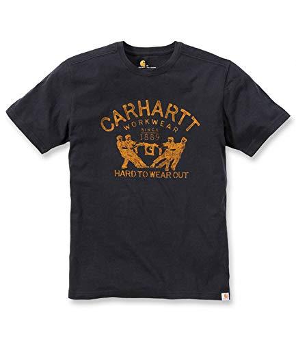 Carhartt T-shirt Größe L, schwarz .102097.001.S006Maddock-Hard-To-Wear-Out-Grafik. -