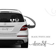 Mickey Mouse Funny Car Adhesivo–Car Pegatinas dodoskinz–para coches–/de vinilo negro mejor