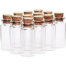 6pcs 20 ml frascos de vidrio que deseen botellas con tapón de corcho/claro cosméticos