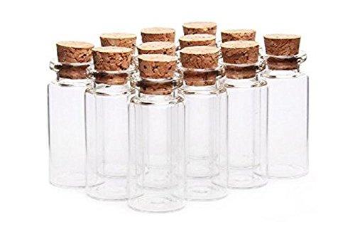 6pcs 20ml frascos de vidrio botellas con tapón de corcho/claro cosméticos contenedor para DIY artes manualidades decoración mensaje bodas Wish Joyería Recuerdo de la fiesta