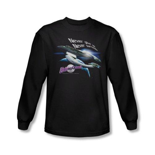 Galaxy Quest - Herren Never Surrender Langarm-Shirt In Schwarz Black