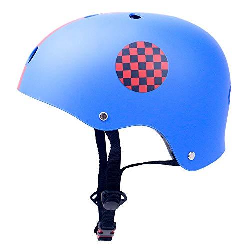 Bambino Casco Bici Ideale per Bambini e Adolescenti Caschi Perfetto per Downhill Ciclismo MTB Scooter Helmet Equilibrio per Auto,Certificazione CE UE S,M,L,XL,Blu