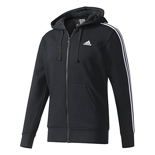 Essentials 3-Stripes Full Zip Brushed, Black/White, S, B47368 ()