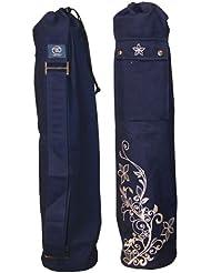 Yoga-Mad Wildflower -Bolsa para esterilla de yoga (63 x 14,5 cm), diseño floral azul