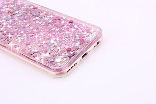 Bling Coque pour iPhone 6 6S, Sunroyal® Liquide Flux Transparent Case pour iPhone 6/6s Etui Housse Sparkle Paillette Cristal Case Cas Hard Plastique Fluide Liquide Dur Plastic Back Cover de Protection Bling-03