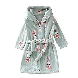 squarex ® Home Coat Kleinkind Mädchen Cartoon Nachtwäsche Kinder Mit Kapuze Flanell Bademantel Handtuch Junge Nachtkleid Verdickung Service Nachtwäsche Komfortabel