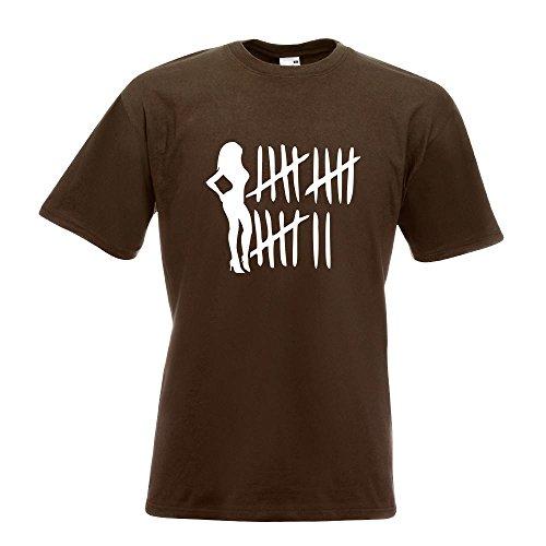 Kiwistar Bitch Strichliste - Tussi - Schlampe T-Shirt in 15 Verschiedenen Farben - Herren Funshirt Bedruckt Design Sprüche Spruch Motive Oberteil Baumwolle Print Größe S M L XL XXL Chocolate