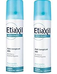 Etiaxil Déodorant Anti-Transpirant 48h Aérosol Lot de 2 x 150 ml