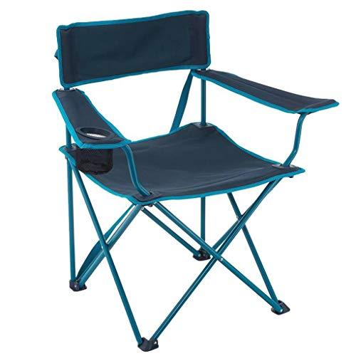 Patio-stuhl-riemen (JGWJJ Leichte kompakte tragbare Falten liegend Camping Strandkorb mit Kissen Cup Holder Pocket Mesh zurück für Outdoor Garden Patio Rasen Wandern Backpacking (Muster : F2))