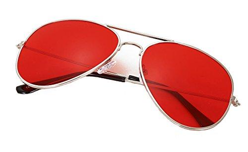 Red Lens Aviators
