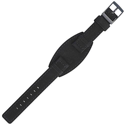 Liebeskind Uhrenarmband 17mm Leder Schwarz - Uhrband B_LT-0066-LQ