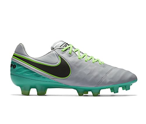 Nike Tiempo Legend Vi Fg, Chaussures de Football Homme, UK Gris (Gris (wolf grey/black-clear jade-hyper turq))