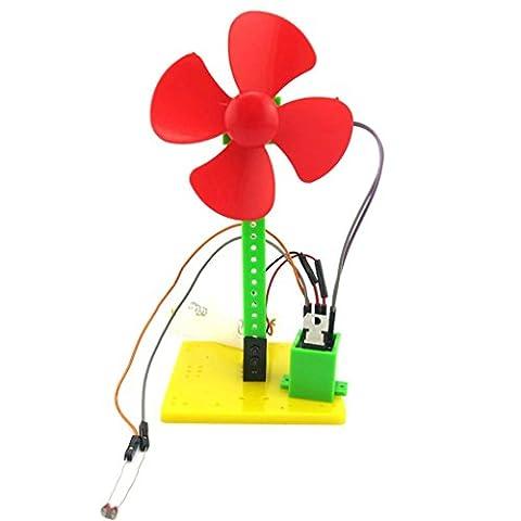 Edealing (TM) DIY Licht-kontrollierte kleine Ventilator Populäre Wissenschaft Spielzeug Technologie Lehre DIY montiert pädagogisches Spielzeug Geschenk für (Wissenschaft Experimente Licht)