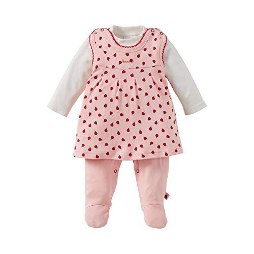 mplerkleid & Shirt (2-TLG. Set) - Strampler-Kleid im Allover-Marienkäfer-Print mit einfarbigem Langarmshirt - Offwhite/rosé Gemustert ()