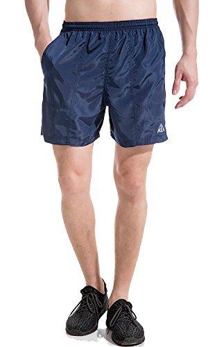 Akula Herren Komfortable Schwimm Shorts Mesh Badehose Schnelltrocknend Polyester Aqua Shorts Gym Navy Größe S