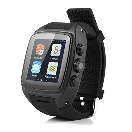 IMACWEAR M7 - IMPERMEABLE SMARTWATCH SMARTPHONE RELOJ DEPORTIVO ANDROID 3G (1 54 PANTALLA IPS  SIM  PODOMETRO  PULSOMETRO  GPS  CAMARA 5MP)  NEGRO