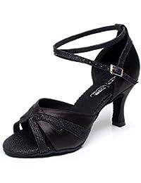 Amazon Salsa Complementos Zapatos Baile Piel Es De Y Wqrhy fgb76y