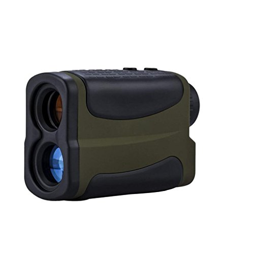 YYHSND 1000 Metri Impermeabile 6 Volte Multifunzione Golf da Caccia Telemetro Finder Range Finder Range Finder con Range Scanning Flagpole Lock, Fog E Speed Function Telescopio (Colore : Army Green)