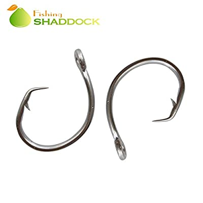 Easy Catch Tuna Circle Fishing Hooks 39960 Stainless Steel Shark Tuna Circle Bait Fishing Lures Hooks Ideal for Saltwater&Freshwater Carp Coarse Fishing by Shaddock Fishing