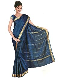 Bollywood Sari Kleid Regenbogen Royalblau