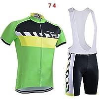 Al Aire Libre Masculino Deporte Equipo de Ciclismo Manga Corta Jersey y del Babero Desgaste fijan el tamaño S-XXXL