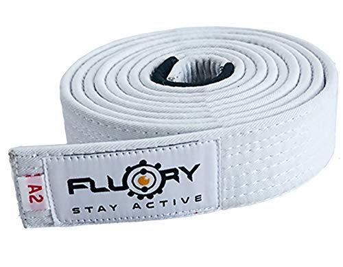 FLUORY BJJ- Cinturón Jiu Jitsu brasileño con Color Blanco, Morado, Azul, marrón, Negro para tamaño A0, A1, A2, A3, A4, A2, BTF01bai