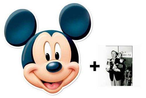 Mickey Mouse Karte Partei Gesichtsmasken (Maske) - Enthält 6X4 (15X10Cm) starfoto